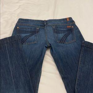 7 fam authentic women's dojo jeans, Ny dark, s 32